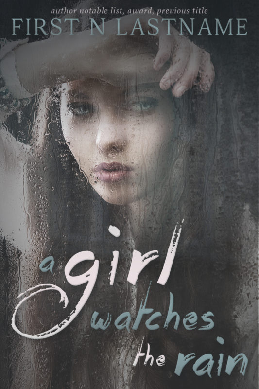 A Girls Watches the Rain - YA premade book cover for self-published authors by Artful Cover