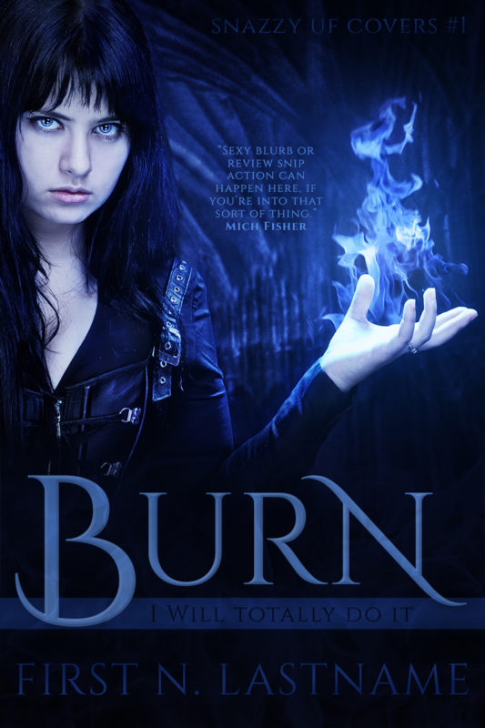 Burn - urban fantasy premade book cover for self-published author by Artful Cover