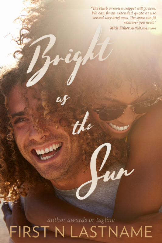 #OwnVoices NA romance premade book cover for self-published authors - Bright as the Sun by Artful Cover