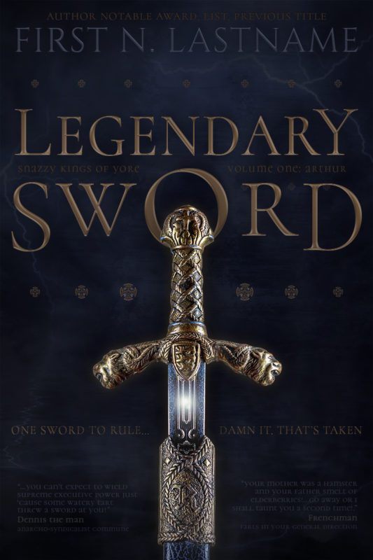 Legendary Sword - an Arthurian fantasy premade book cover for self-published author by Artful Cover