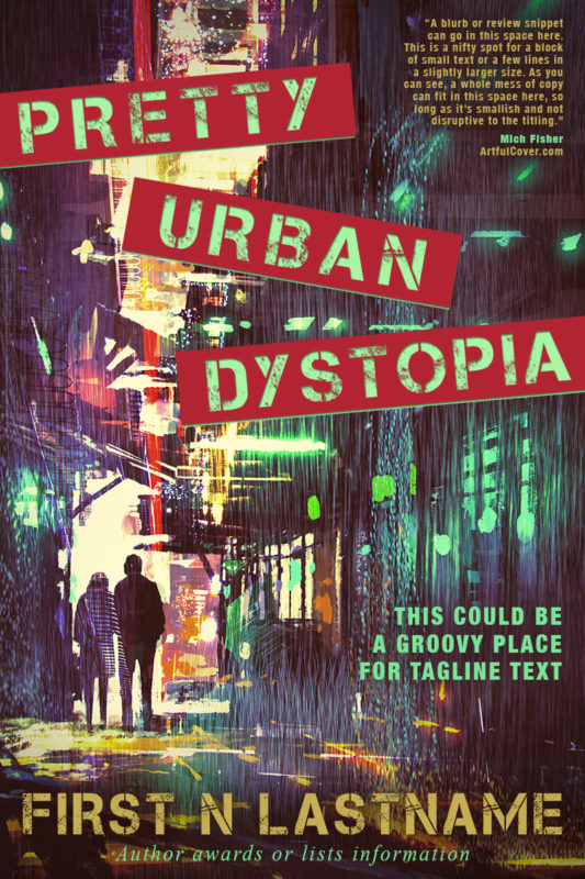 Pretty Urban Dystopia - dystopian science fiction premade book cover for self-published authors by Artful Cover
