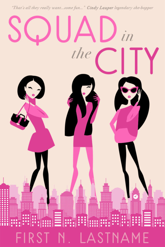 Squad in the City - YA fashion chick lit premade book cover for self-published authors by Artful Cover