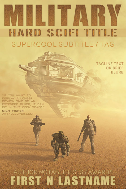Military Hard Science Fiction Title - military science fiction premade book cover for self-published authors by Artful Cover