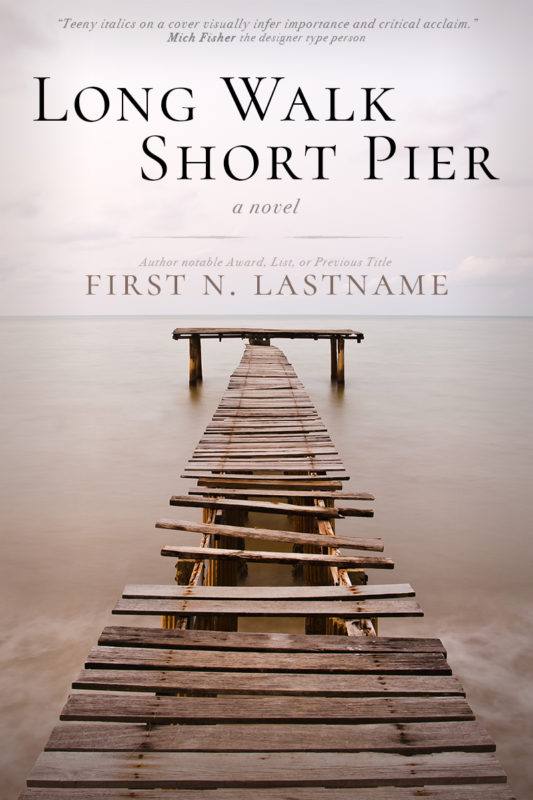 Long Walk, Short Pier - literary fiction premade book cover for self-published authors by Artful Cover