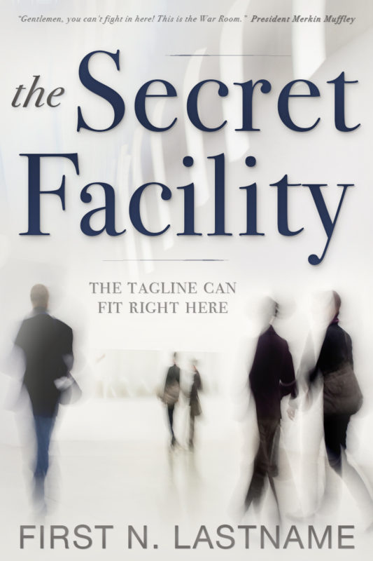 The Secret Facility - conspiracy thriller premade book cover for self-published author by Artful Cover