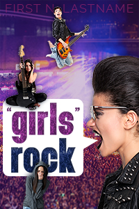 """""""Girls"""" Rock - an example of the Grand custom book cover design package for self-publishing indie authors by Artful Cover"""