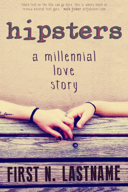Hipsters - contemporary YA romance premade book cover for self-published authors by Artful Cover