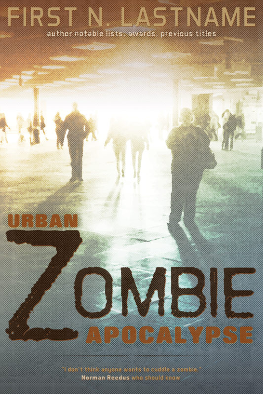 Urban Zombie Apocalypse - zombie horror premade book cover for self-published authors by Artful Cover