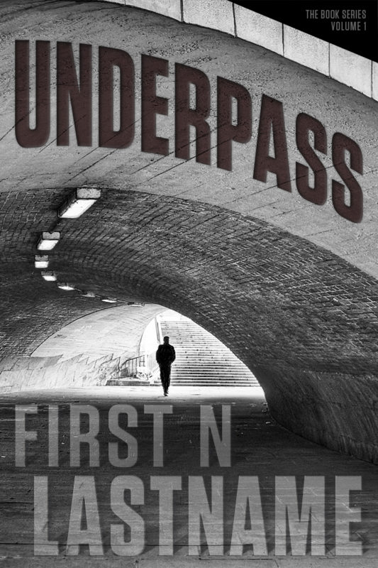 Underpass - conspiracy thriller premade book cover for self-published authors by Artful Cover