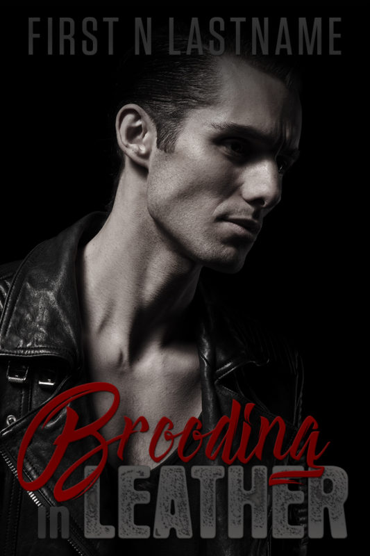 Brooding in Leather - NA dark romance premade book cover for self-published authors by Artful Cover
