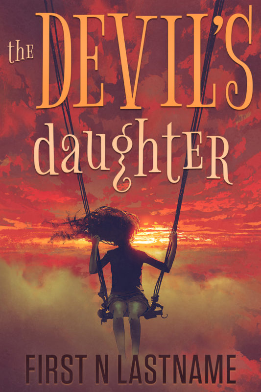 YA paranormal fantasy premade book cover for self-published authors - The Devil's Daughter -  by Artful Cover