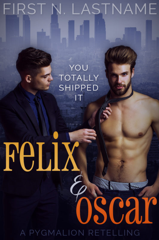 Felix & Oscar - gay romance premade book cover for self-published authors by Artful Cover