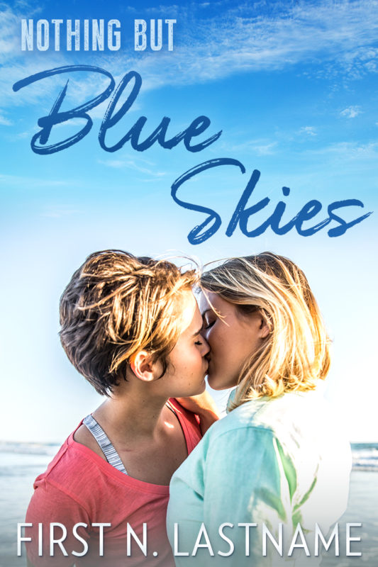Nothing But Blue Skies - contemporary lesbian romance premade book cover for self-published authors by Artful Cover