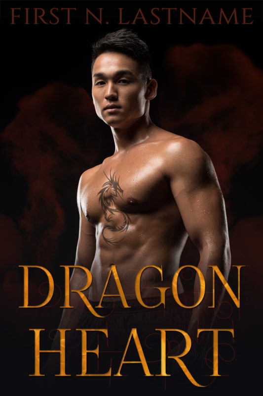 Dragon Heart - #OwnVoices paranormal romance premade book cover for indie authors by Artful Cover