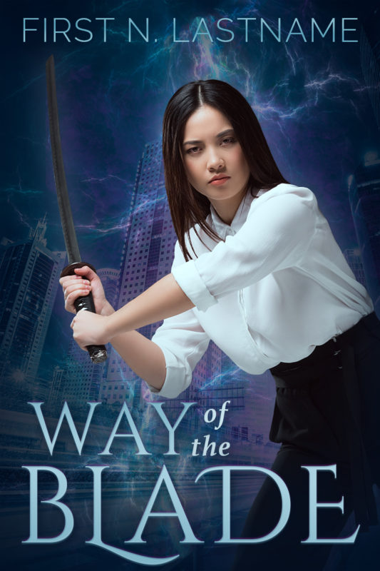 Way of the Blade - premade urban fantasy book cover for #OwnVoices authors by Artful Cover