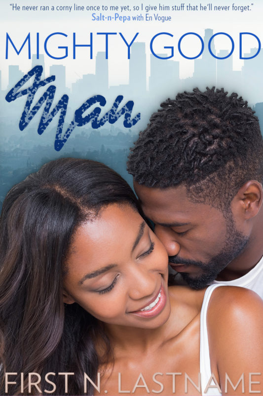 Mighty Good Man - #OwnVoices contemporary romance premade book cover for self-published authors by Artful Cover