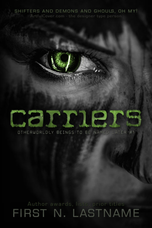 Carriers - shifter horror premade book cover for self-published authors by Artful Cover