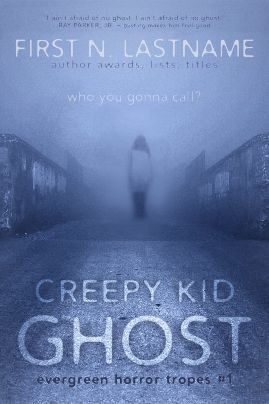 Creepy Kid Ghost - gothic horror premade book cover for self-published authors by Artful Cover