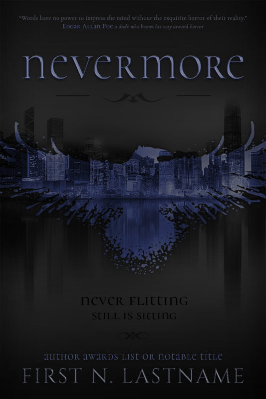 Nevermore - a shifter urban fantasy premade book cover for self-published indie authors by Artful Cover