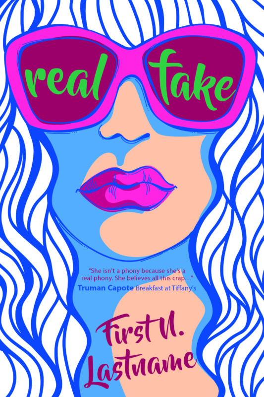 women's fiction premade book cover - Real Fake by Artful Cover