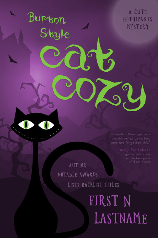 Halloween pet cozy mystery premade book cover for self-published authors by Artful Cover