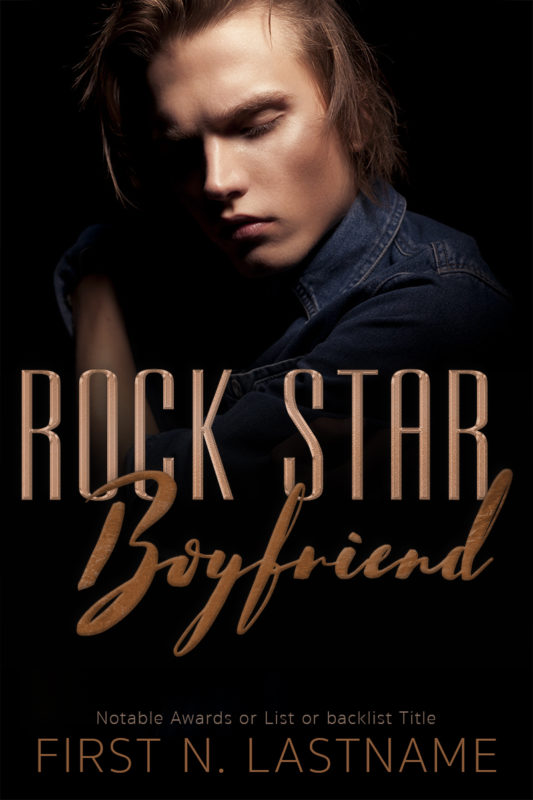 Rock Star Boyfriend - rock star romance premade book cover for self-published authors by Artful Cover