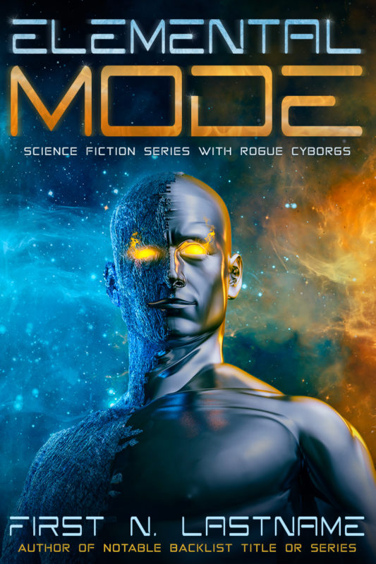 Cyborg science fiction premade book cover for self-published authors by Artful Cover