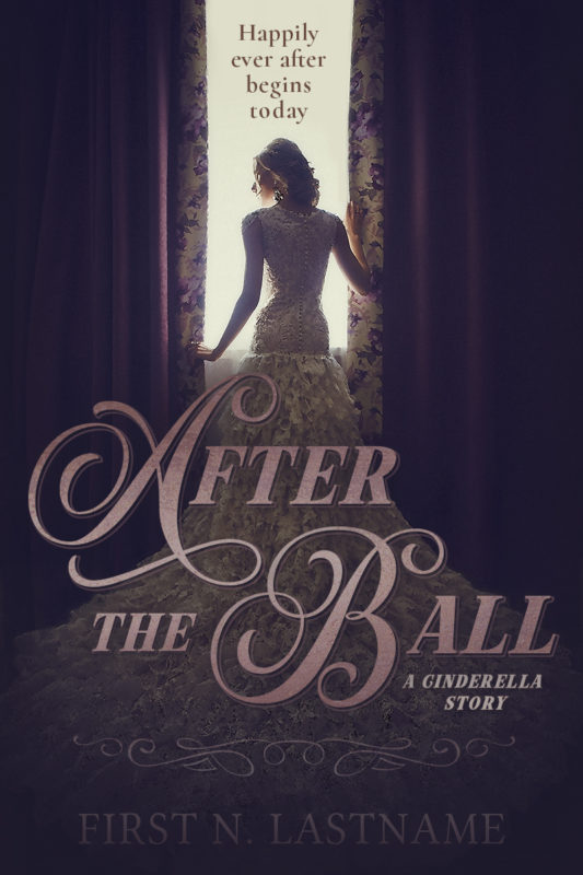 Cinderella retelling romance premade book cover for indie authors by Artful Cover