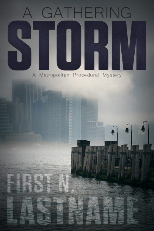 urban procedural thriller premade book cover for self-published authors by Artful Cover