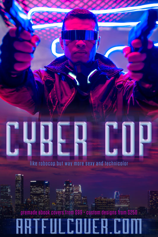 cyberpunk scifi premade book cover for indie authors by Artful Cover